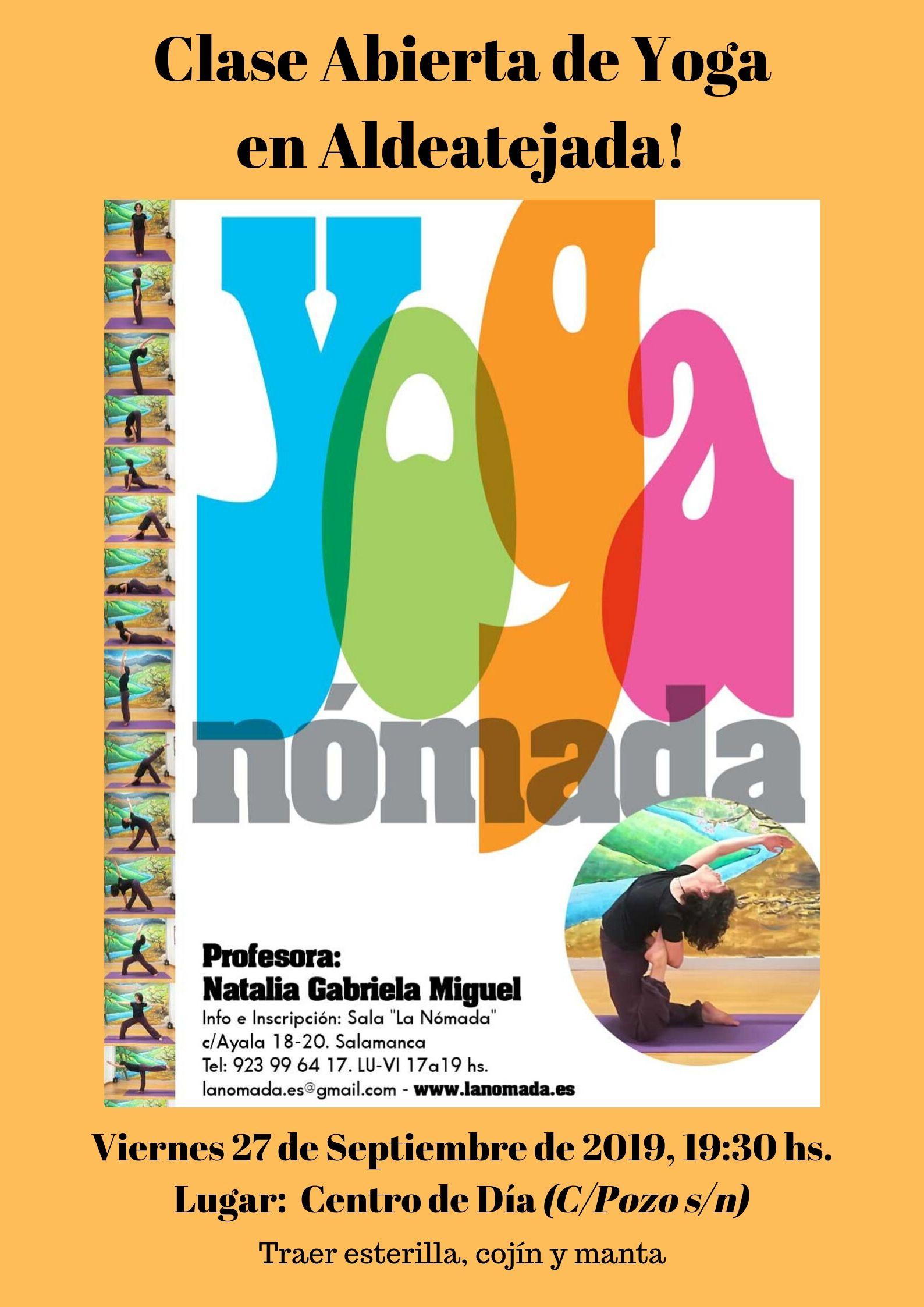 Clase Abierta de Yoga Nómada en Aldeatejada