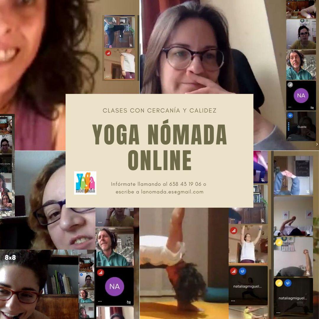 Yoga Nómada. Clases Online